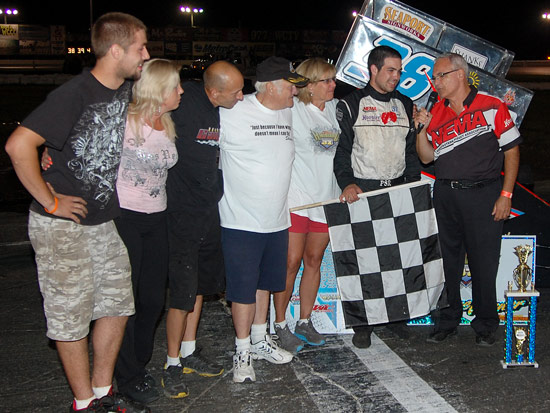 Anthony Marvuglio of East Bridgewater won the Shane Hammond Memorial NEMA Midget feature at the Waterford Speedbowl in Connecticut.